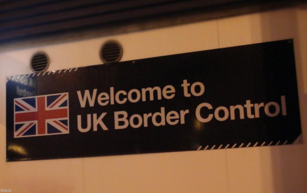 UK border control sign   Copyright: PA