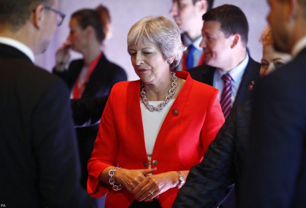 Theresa May stat the informal EU summit in Salzburg, Austria | Copyright: PA