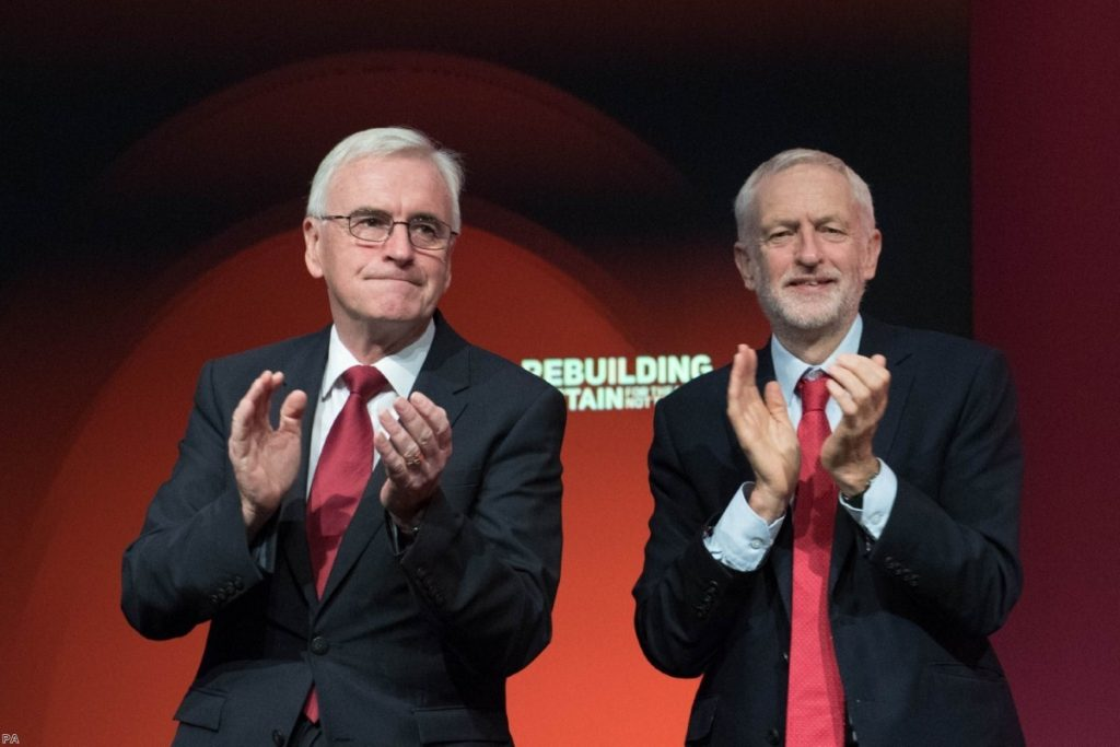Jeremy Corbyn and John McDonnell at the Labour Party's annual conference | Copyright: PA
