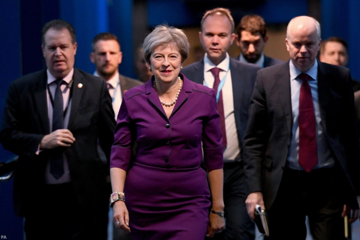 Theresa May at the Conservative Party annual conference in Birmingham | Copyright: PA