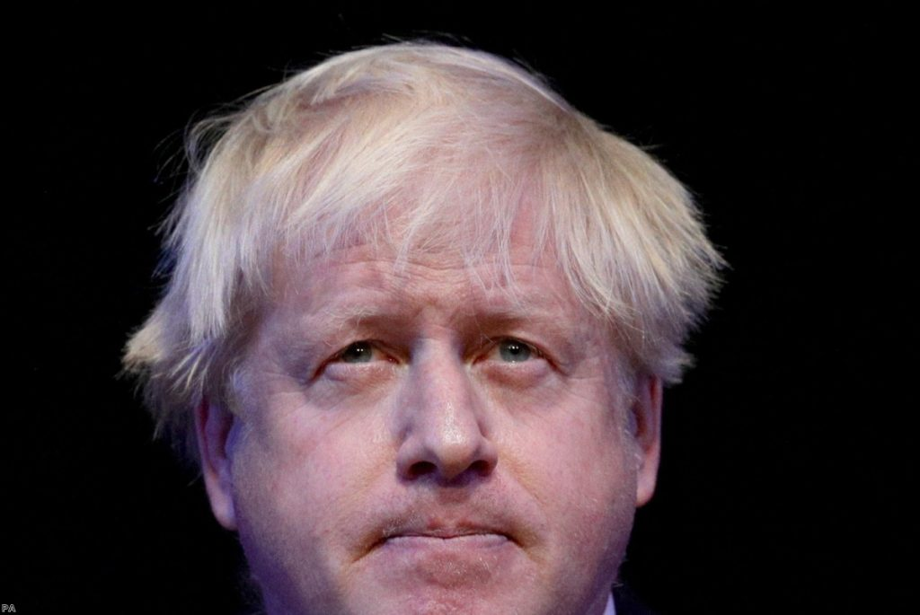 Boris Johnson speaking at the Conservative Party annual conference   Copyright: PA
