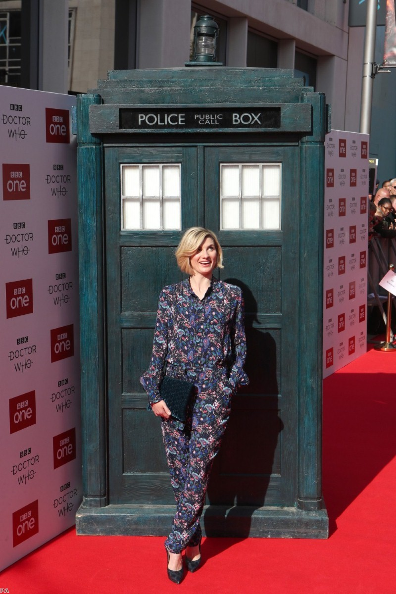 Jodie Whittaker attending the Doctor Who premiere at The Light Cinema at The Moor, Sheffield   Copyright: PA