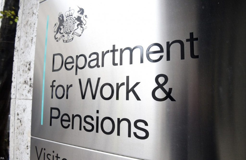 Signage for the Department for Work and Pensions | Copyright: PA