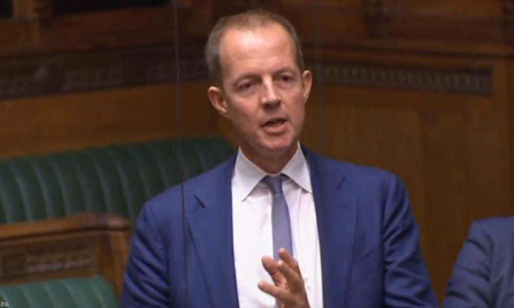 """Nick Boles at the end of today;s debate, as he announced he could """"no longer sit for this party""""."""