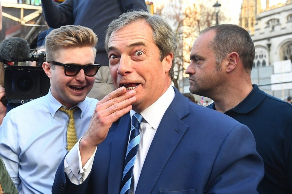 Farage has come out strong in the campaign but he faces an uphill battle getting his vote out.