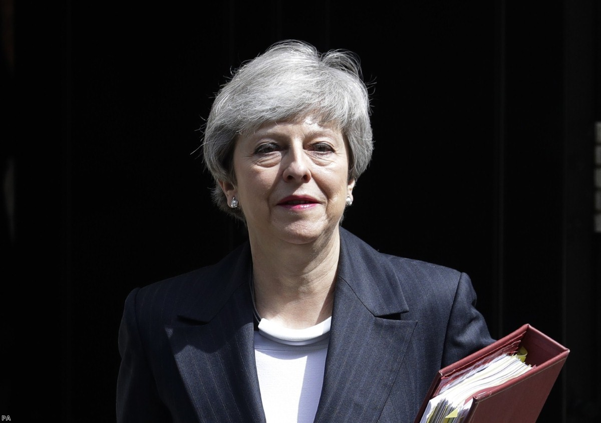 Theresa May is living out her final days as prime minister.
