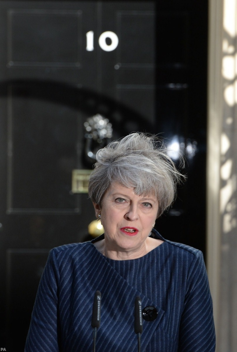 Theresa May cuts a lonely figure as she prepares to leave office