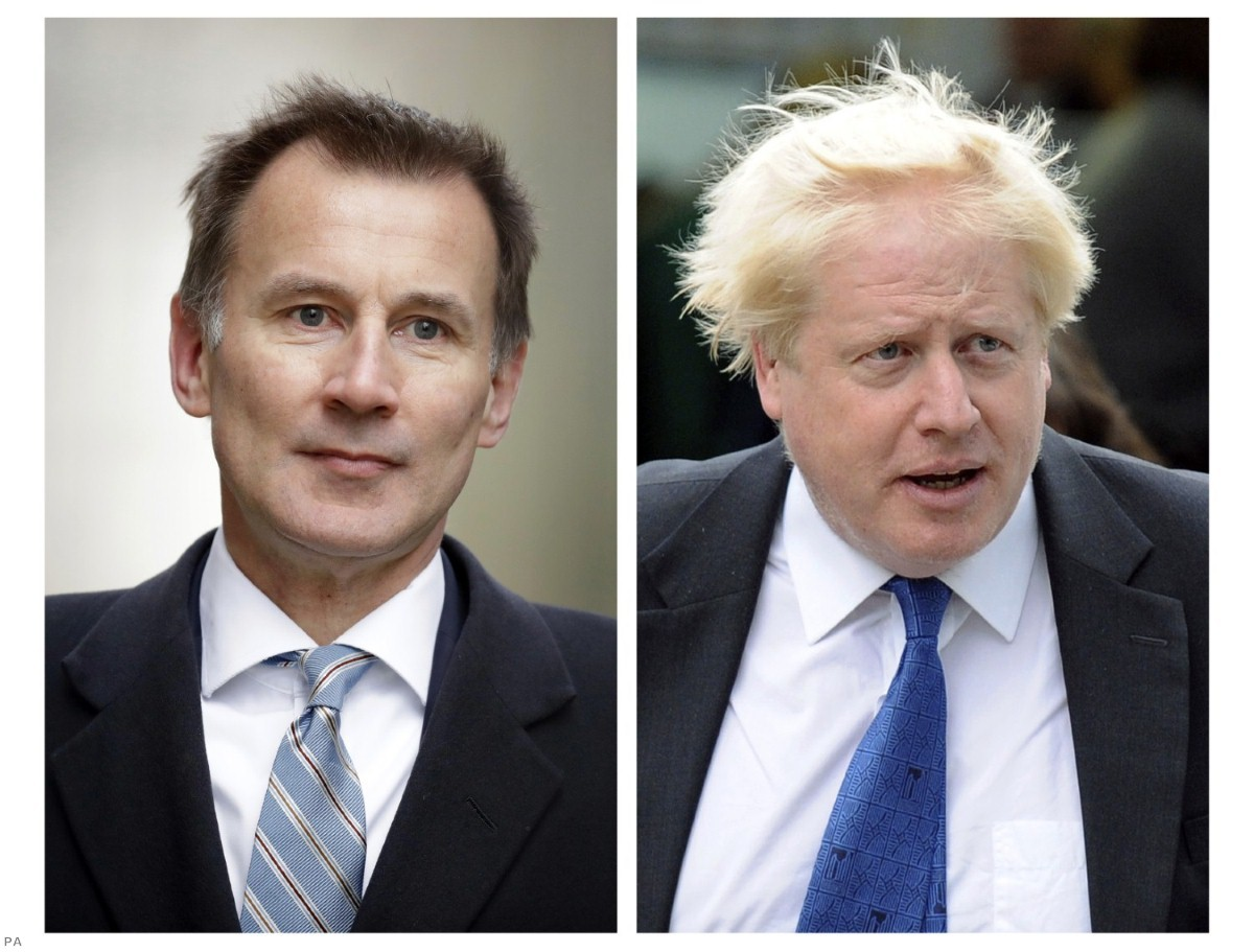 Boris Johnson and Jeremy Hunt are the final two contenders for the leadership.