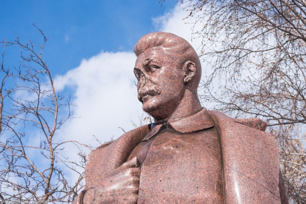 A statue of Stalin. The Soviet leader went into a state of shock when Hitler eventually broke the terms of the pact.