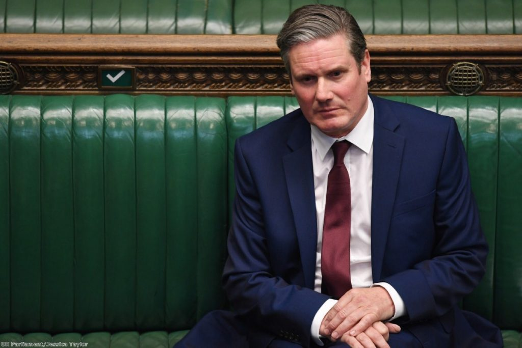 Starmer sits in the Commons during this week's PMQs