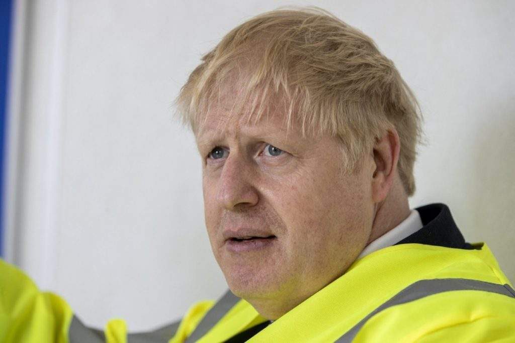Boris Johnson sported a new haircut as he visited a new rail factory earlier this week, but his exuberance is yet to return (photo: Press Association)