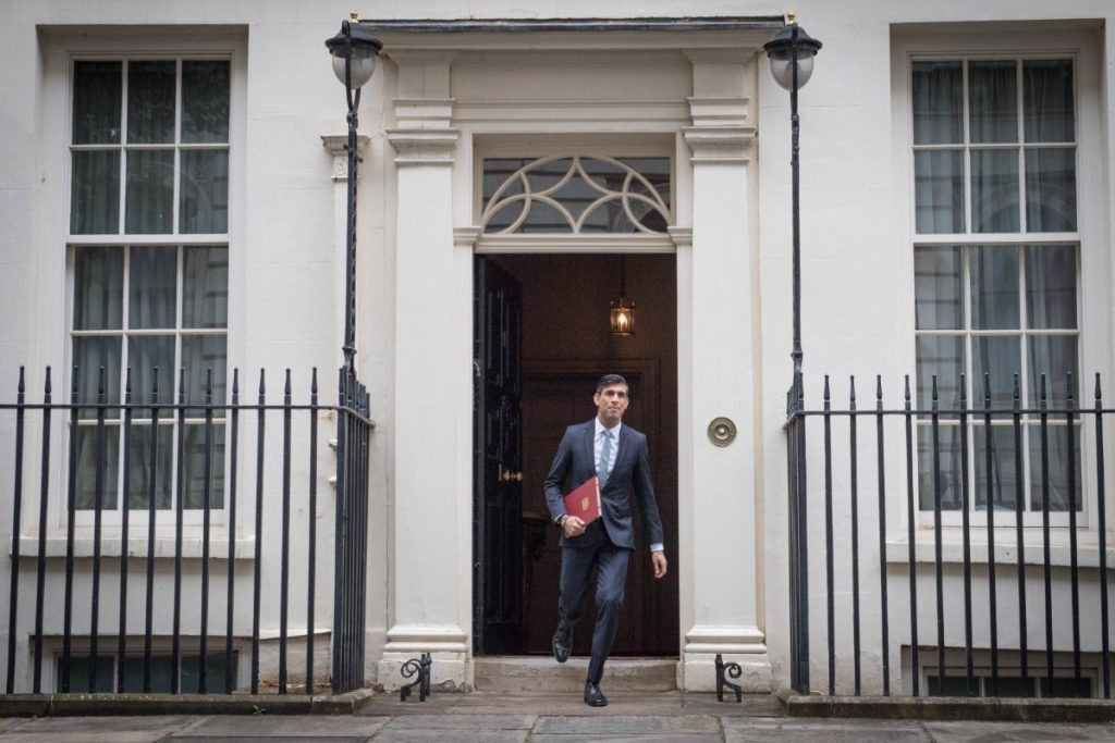 Rishi Sunak leaves No. 11 Downing Street ahead of his summer statement to Parliament (photo: Press Association)