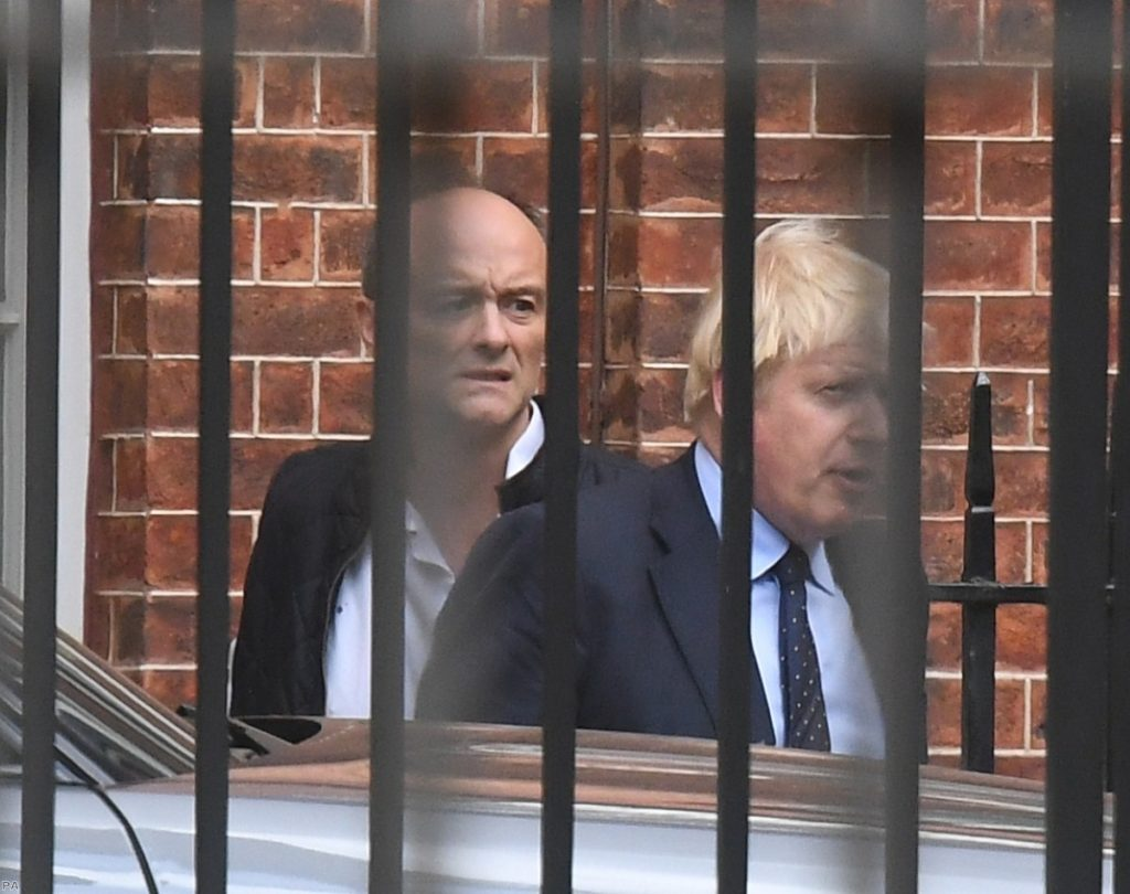 Johnson and Cummings: report delayed due to Brexit divisions with previous chairman.
