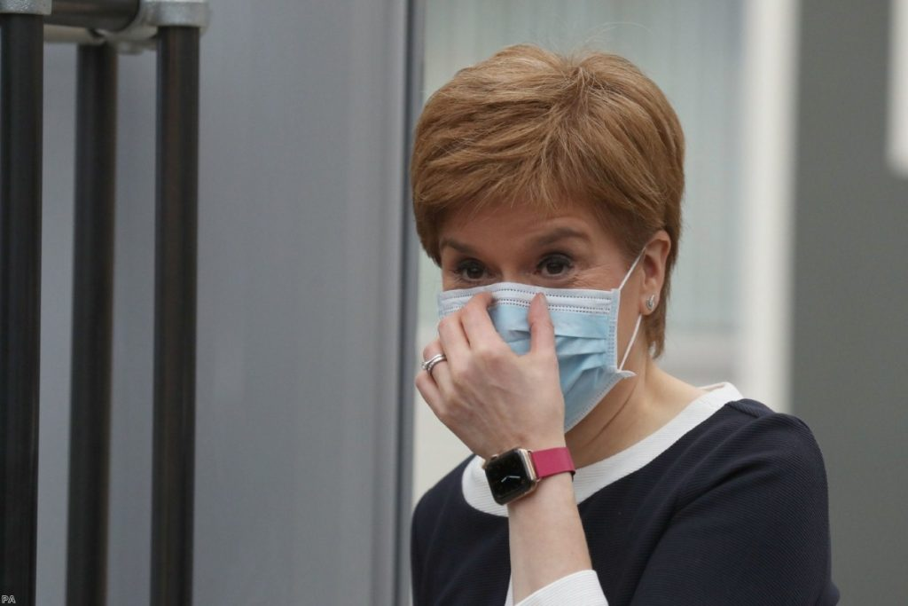 No.10's weak response to the crisis has been a gift to Scottish first minister Nicola Sturgeon.