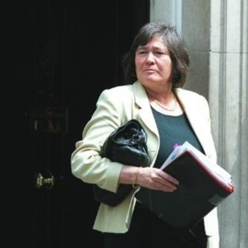 Short emerges from Downing Street. She resigned from Cabinet over the Iraq war.