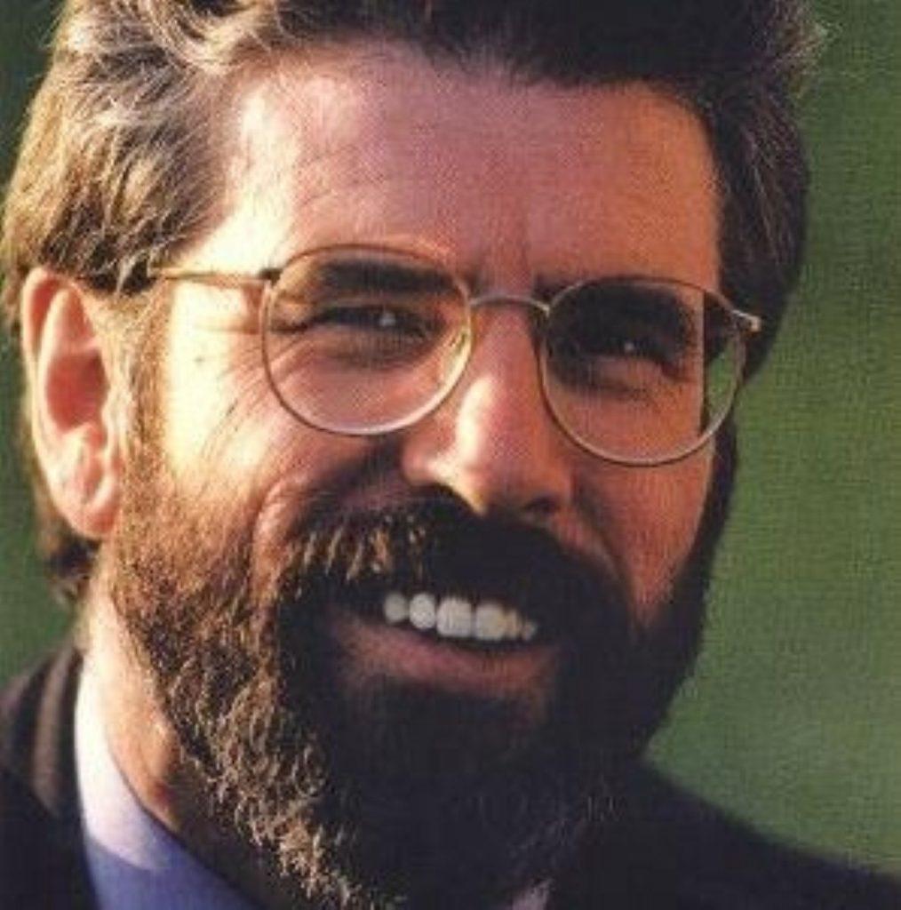 Gerry Adams. Sinn Fein performed strongly today.