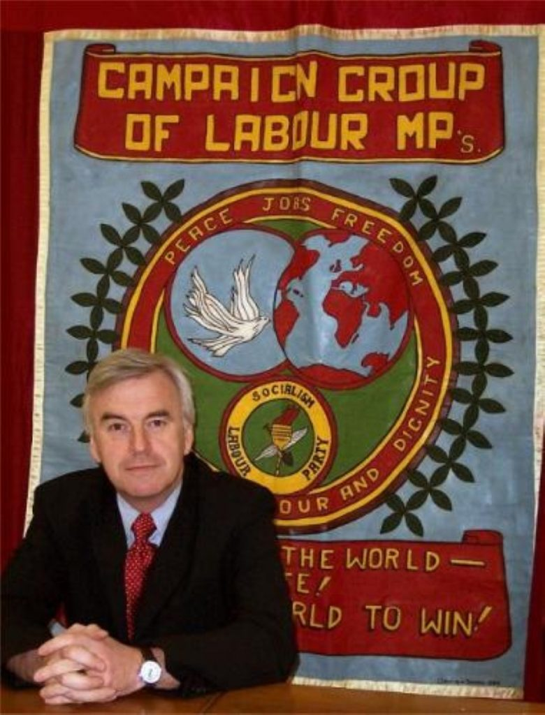 John McDonnell is firmly on the left of the Labour party