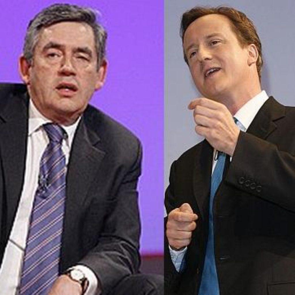 Cameron not capitalising on Brown slump