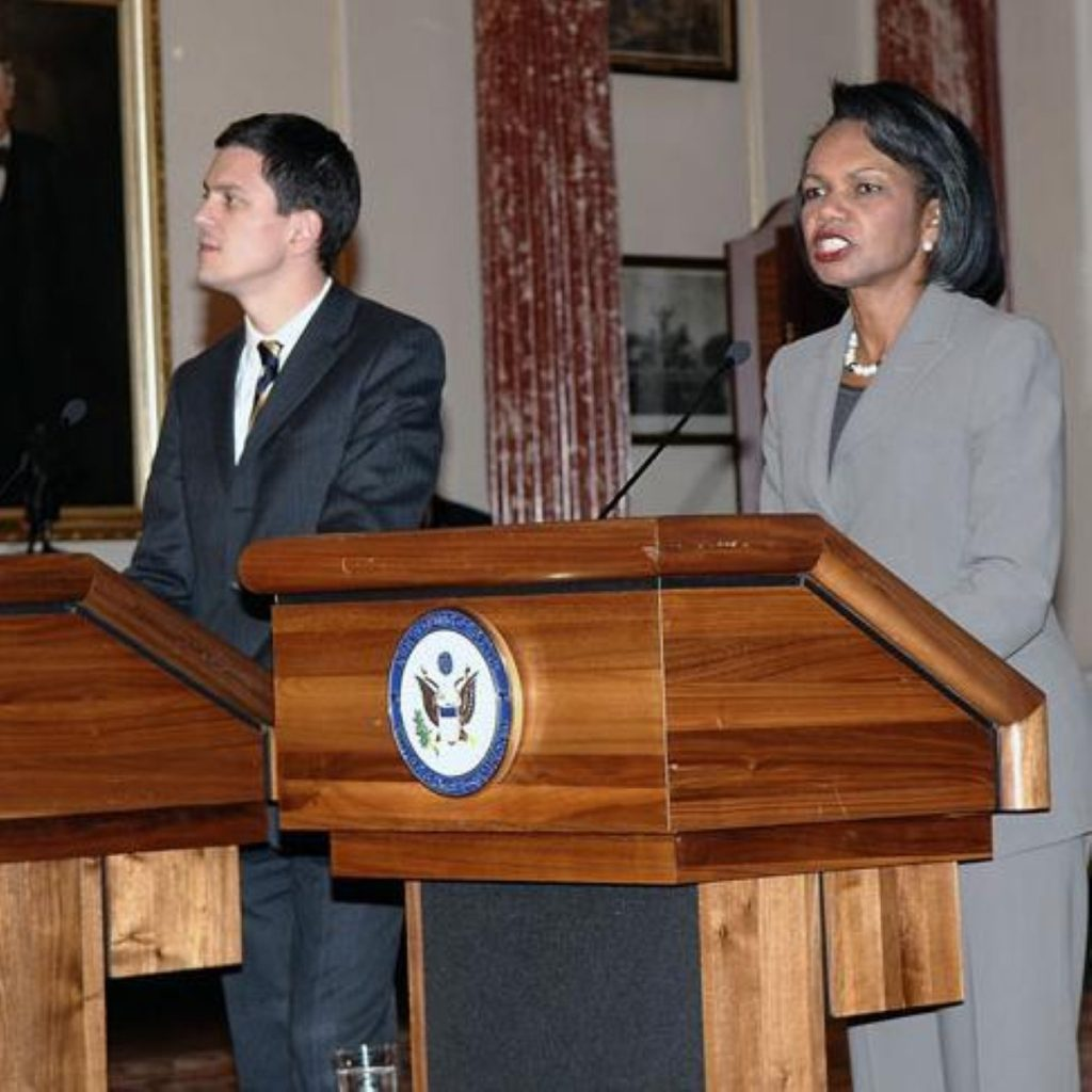 Rice during a previous visit to the UK