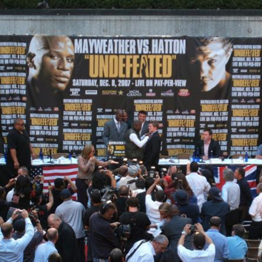 Floyd Mayweather was due to speak at an event in Bristol this week