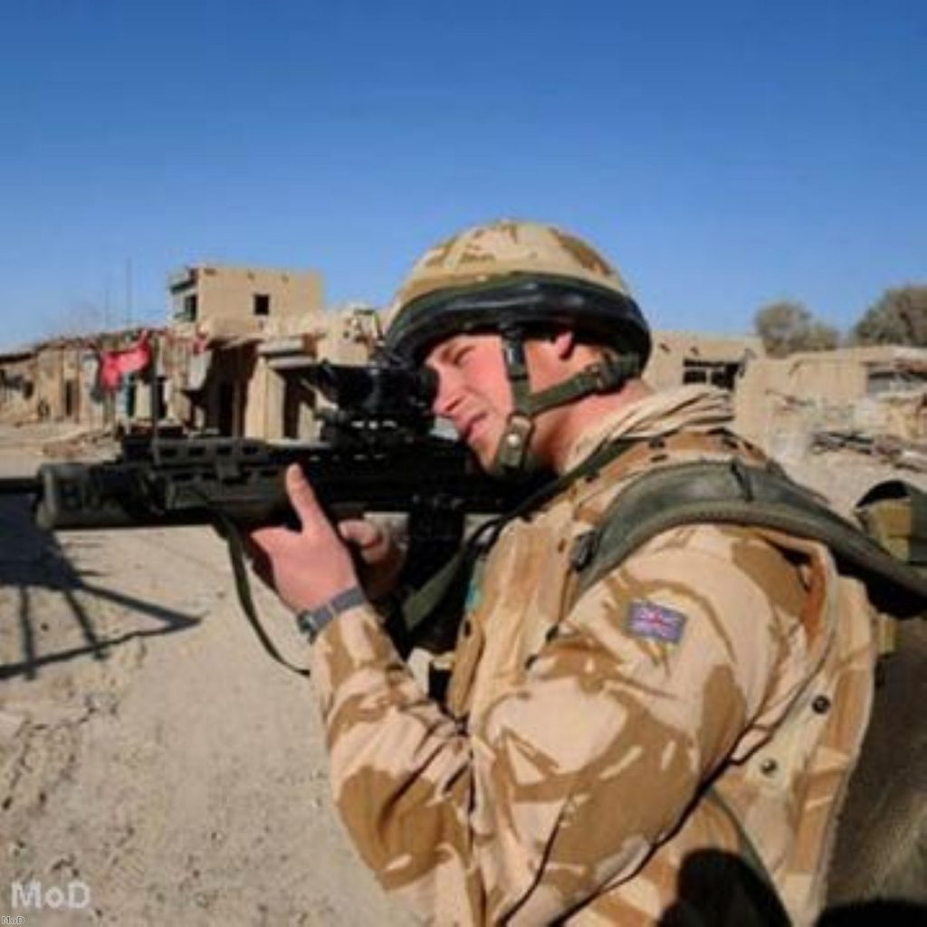 Prince Harry admitted shooting insurgents while on operations in Afghanistan