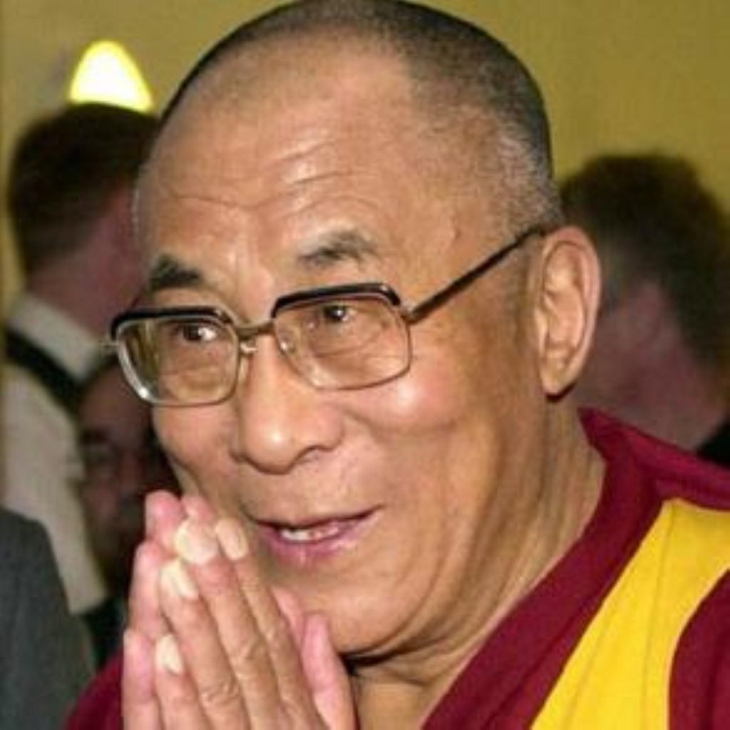 The Dalai Lama will be in the UK at the end of the month