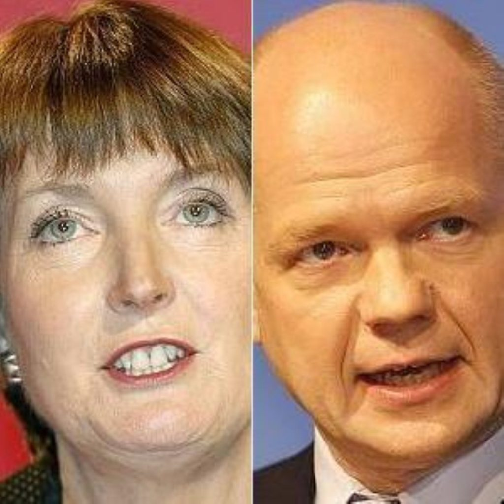 Harriet Harman raised Lord Ashcroft relentlessly during PMQs against William Hague