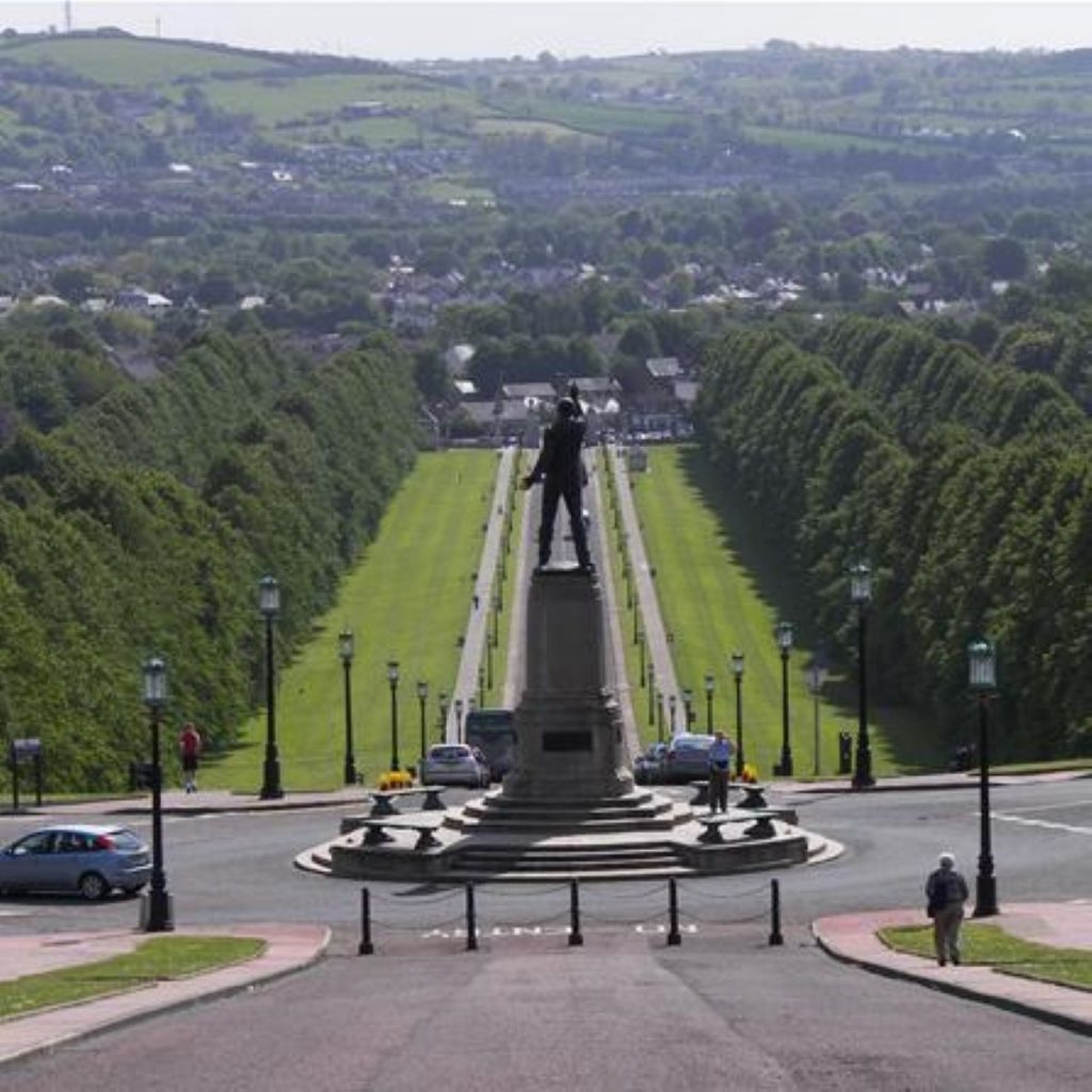 The view from Stormont - not so sunny at present