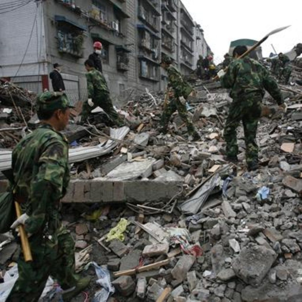 Devastation following the Chinese earthquake