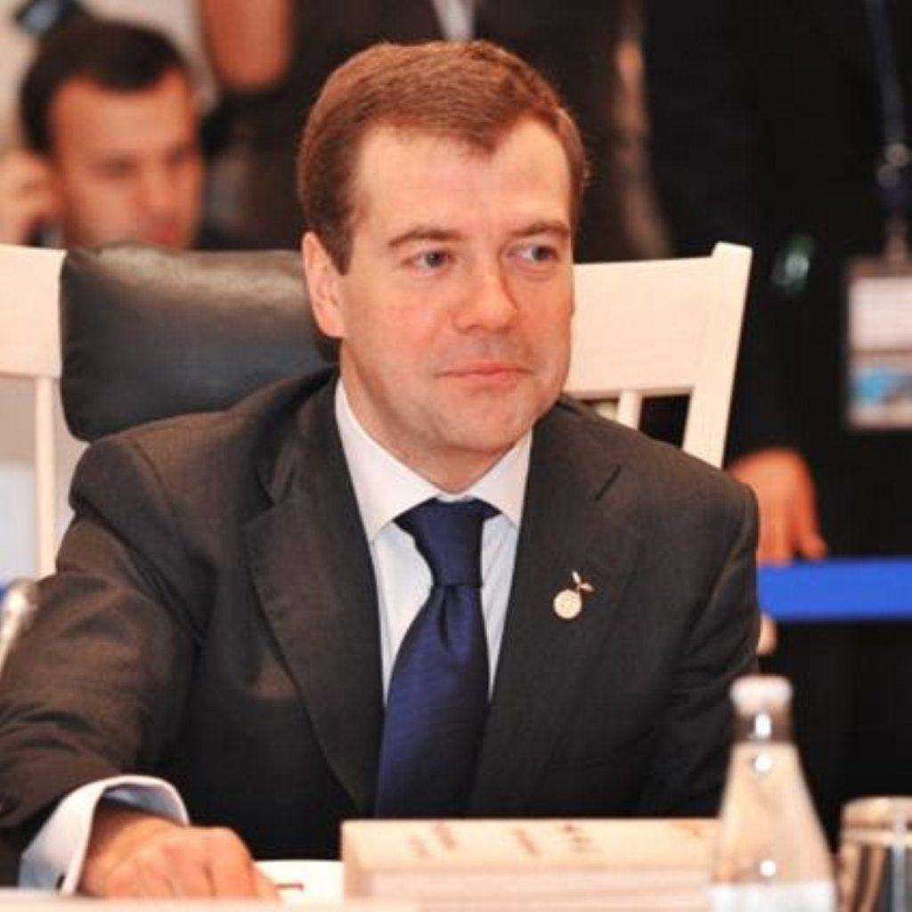 Russian president Dmitry Medvedev opposes Syria resolution