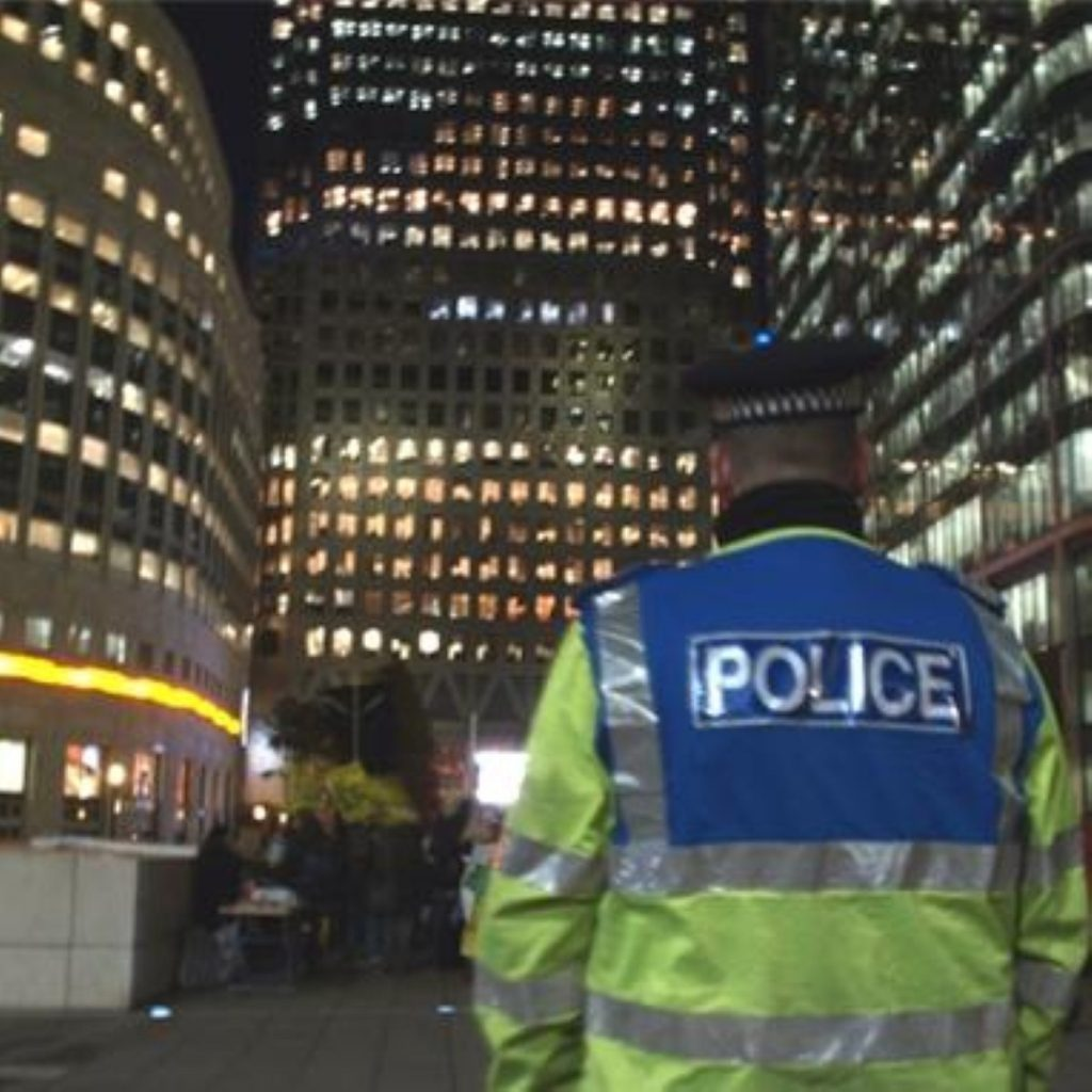Police in Canary Wharf