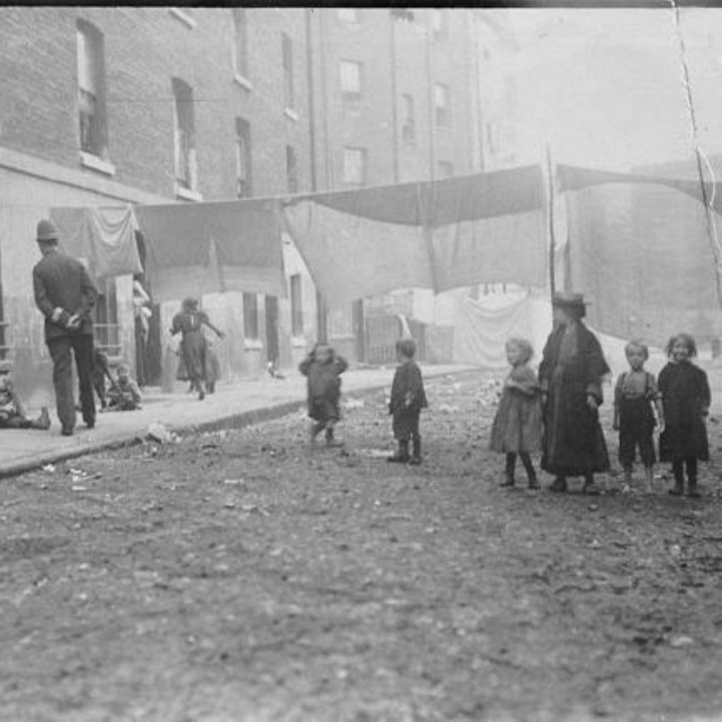 A slum in Victorian London. Is inequality getting as bad as the bad old days?
