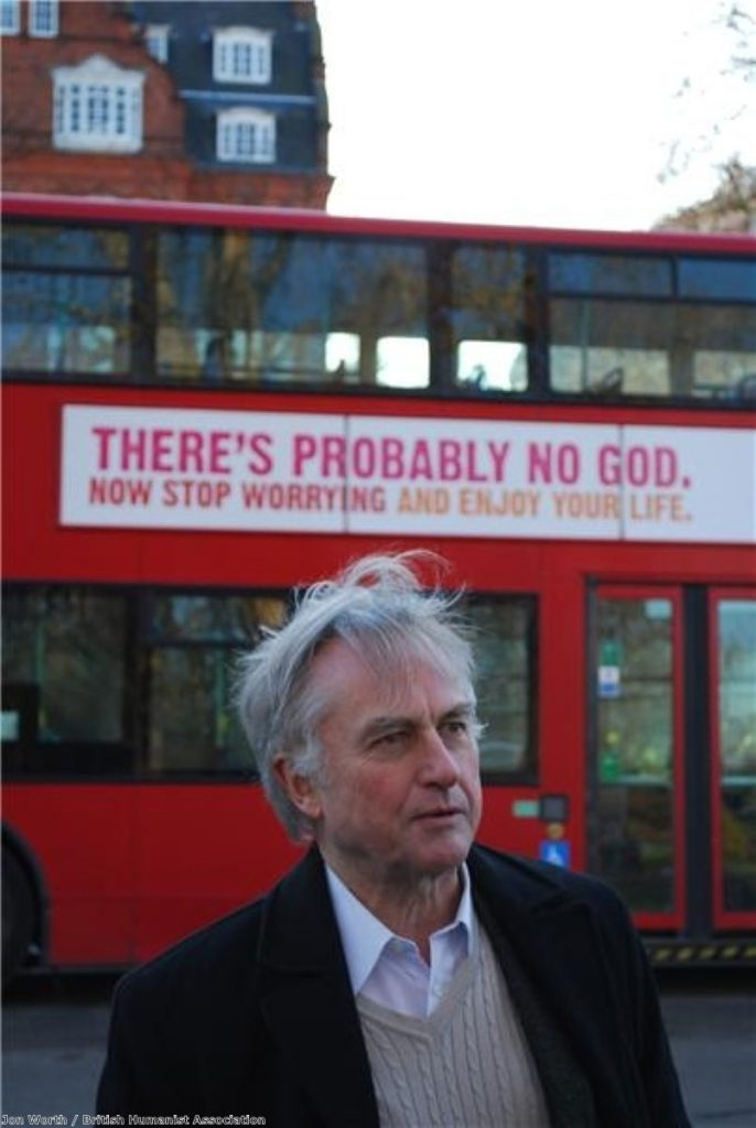 Professor Richard Dawkins' comments came at the atheist bus launch