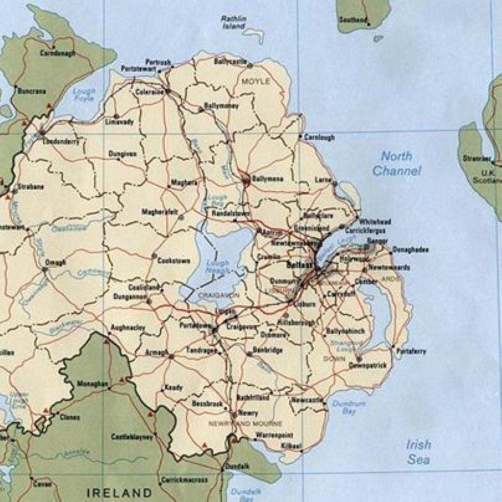 A 600lb bomb was found near the Irish border yesterday