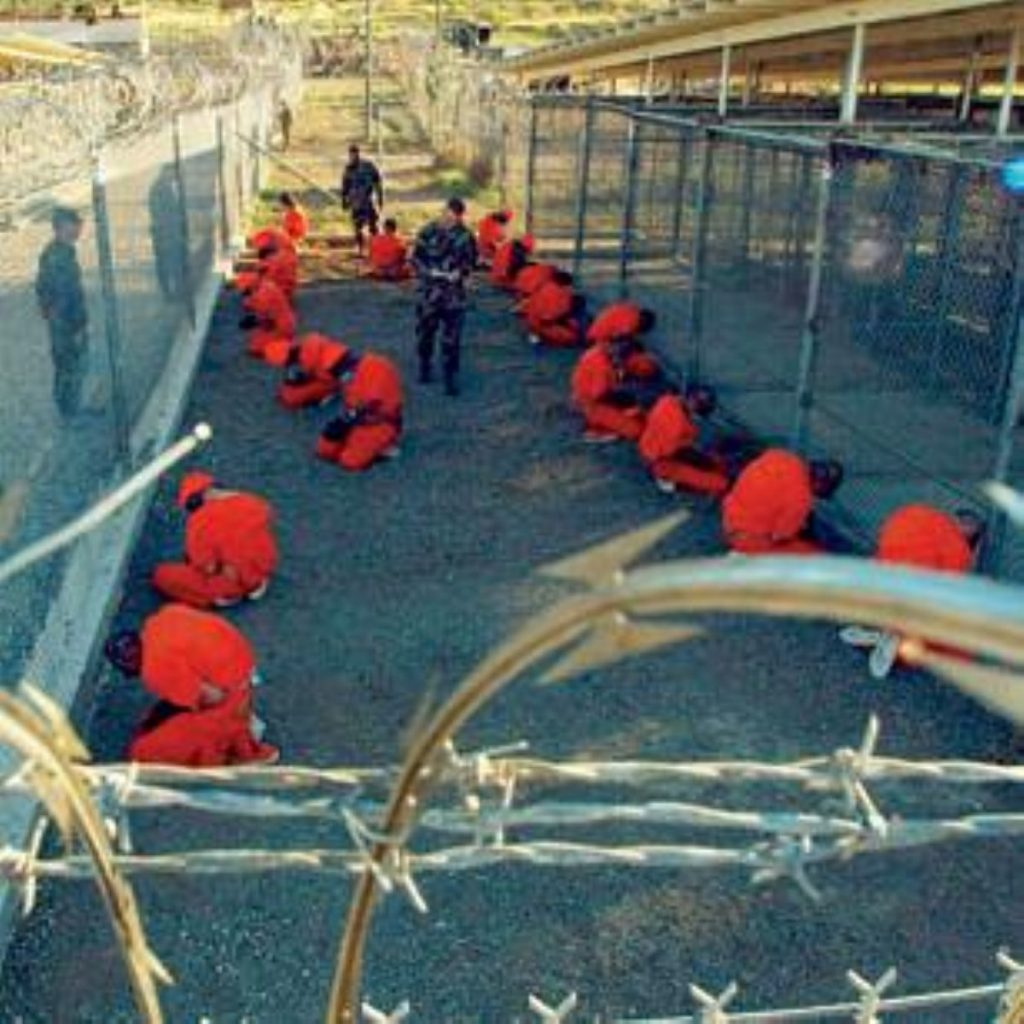 Three quarters of the 166 inmates of Guantanamo Bay are estimated to be participating in the hunger strike.