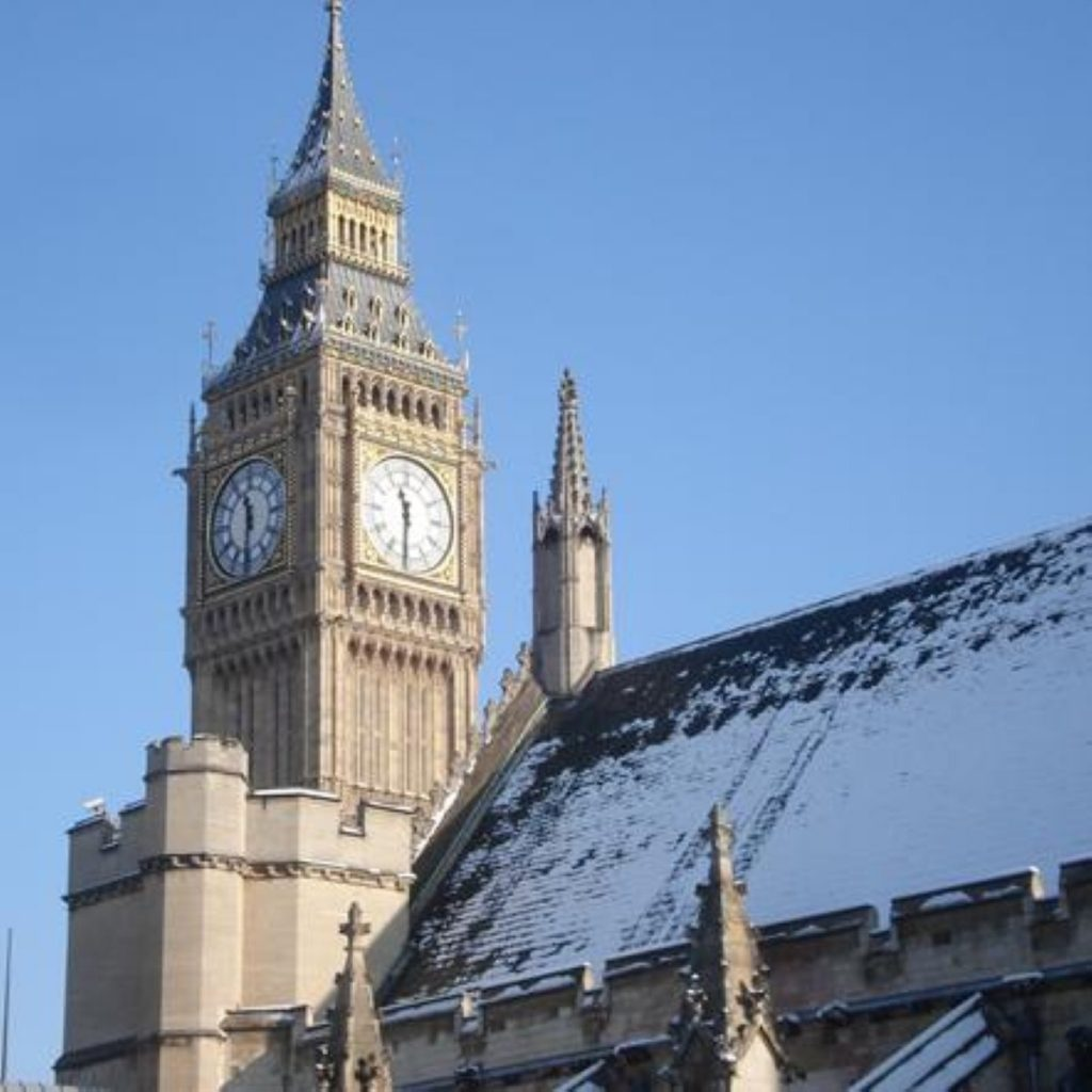 Parliament in the snow: Cameron prepares to brief the Commons on events in lLgeria.