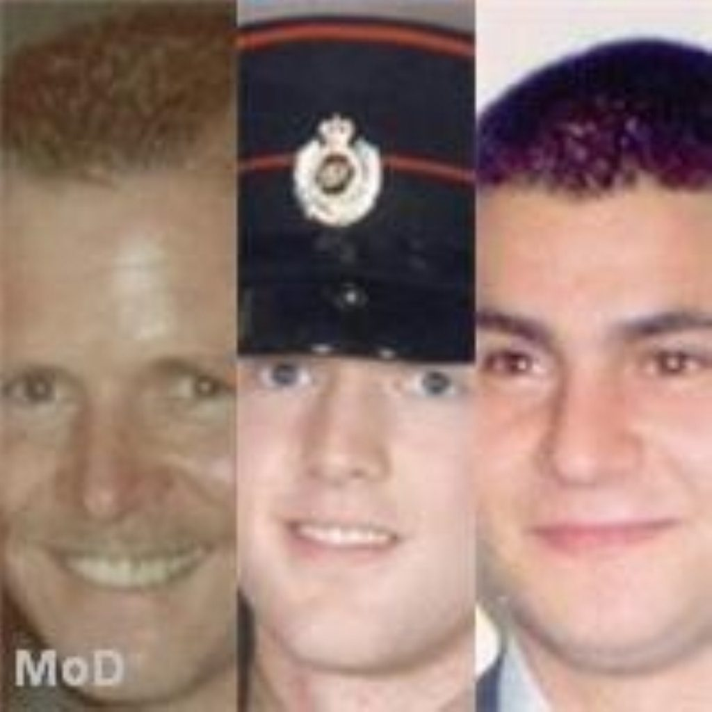 The three victims of the recent violence