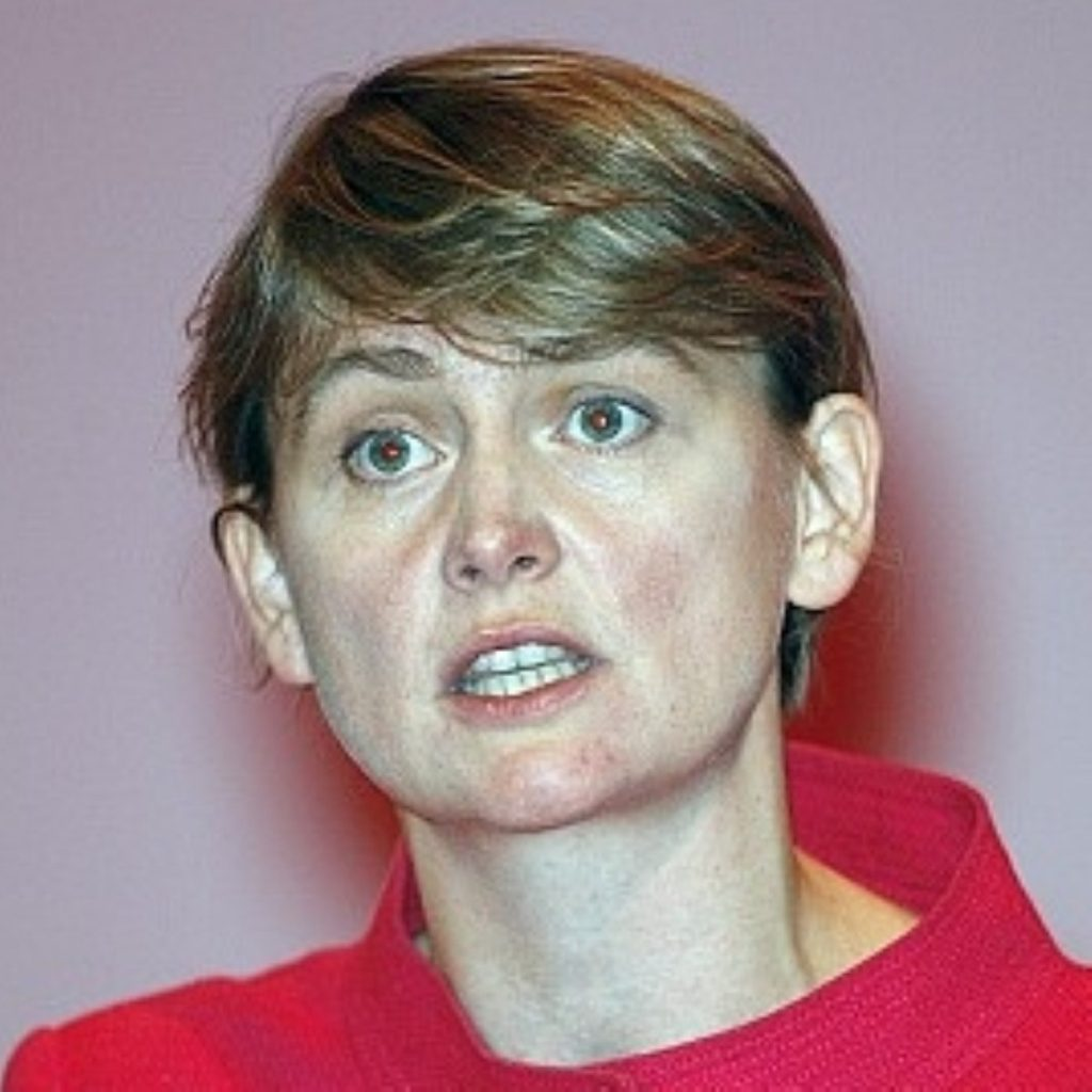 Cooper, shadow home secretary, pledges no privatisation of the police