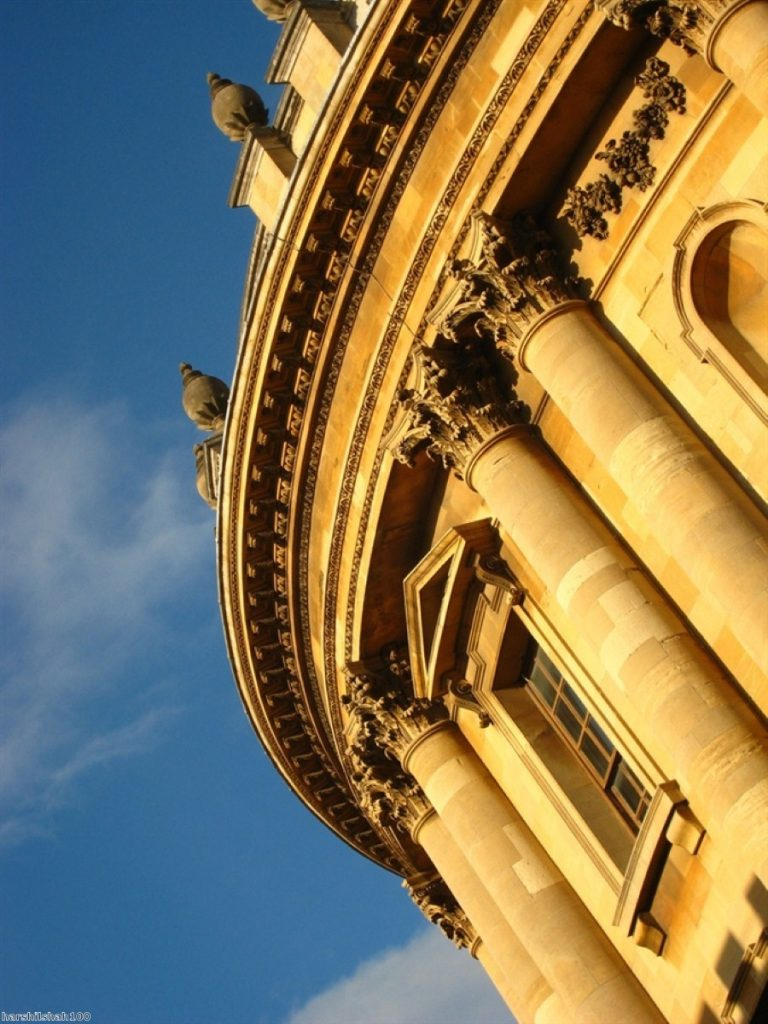 Radcliffe Camera: Opponents of the petititon say the statue is part of the architecture of Oriel College