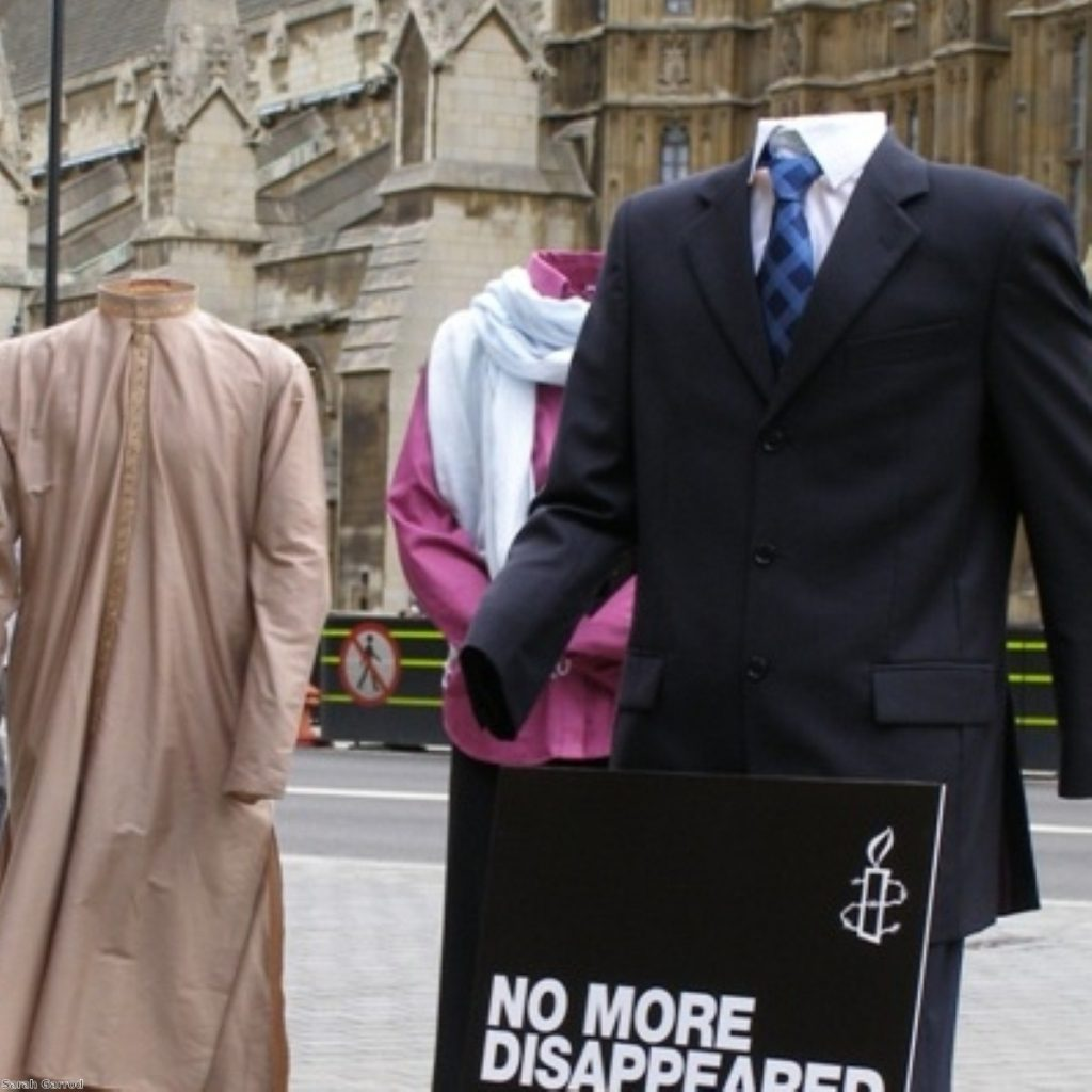 An Amnesty campaign event highlighting the 'disappeared'