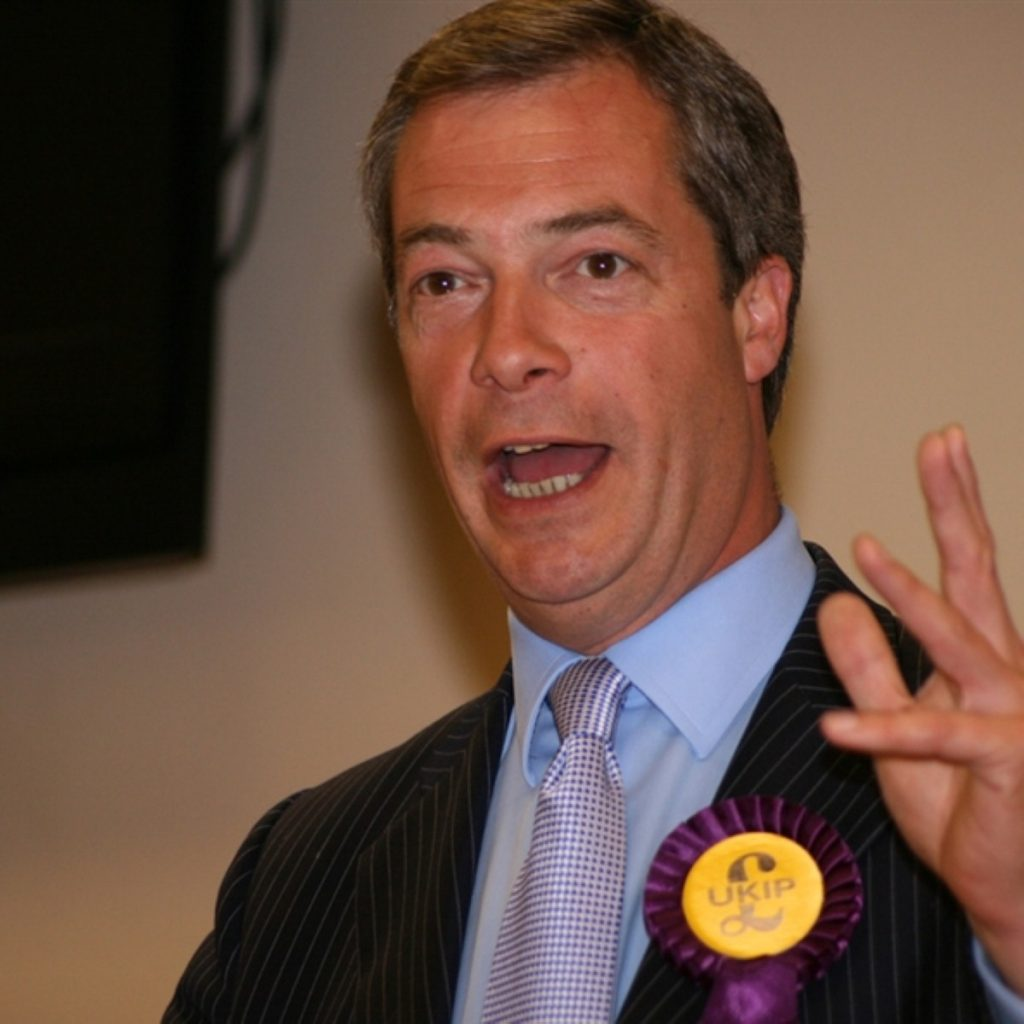 Nigel farage wasn't happy about the Oldham by-election result