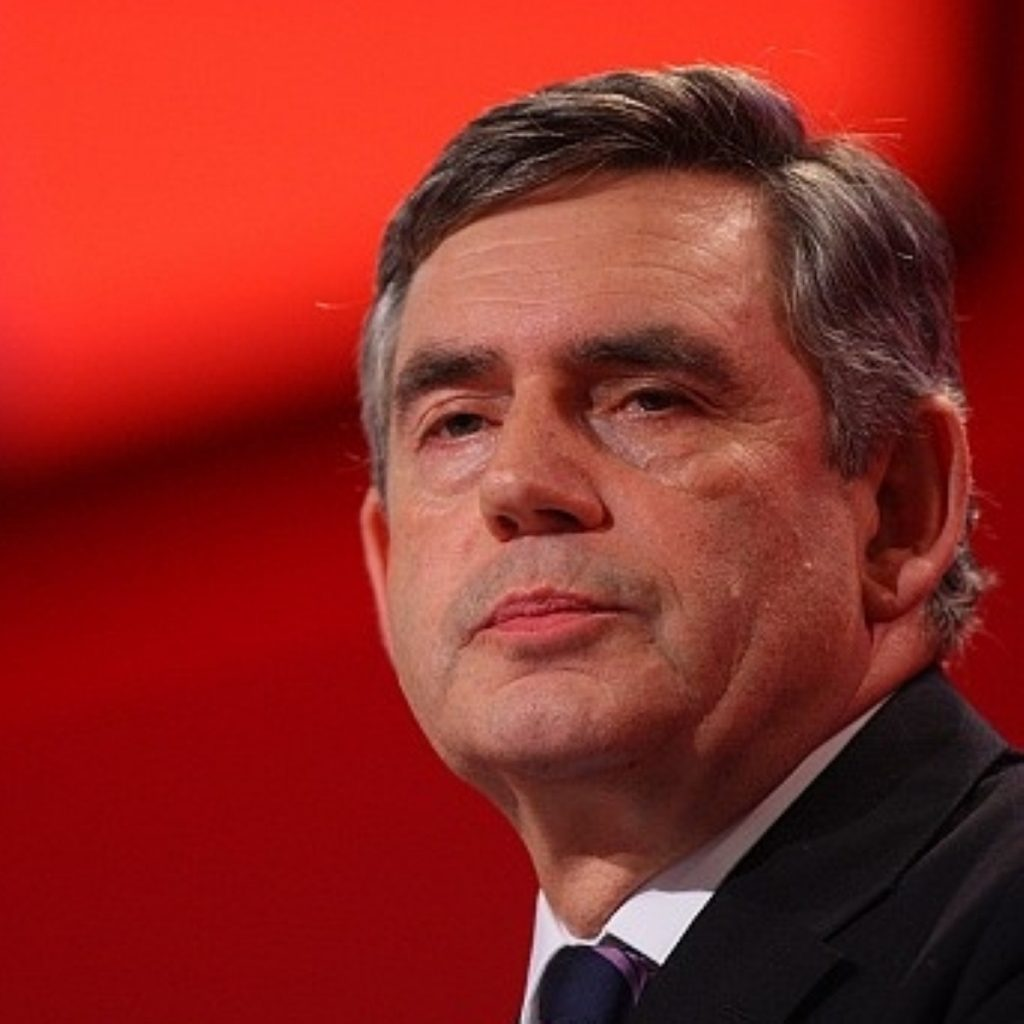 Gordon Brown flew to Northern Ireland today for urgent talks at Stormont with the power-sharing government.