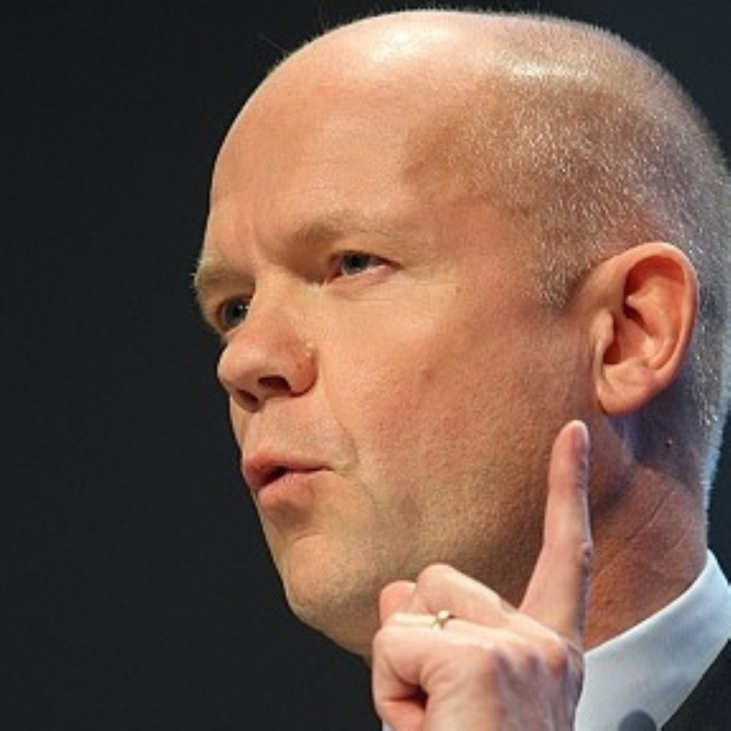 Hague says nothing should be off the table when it comes to stopping violence in Syria