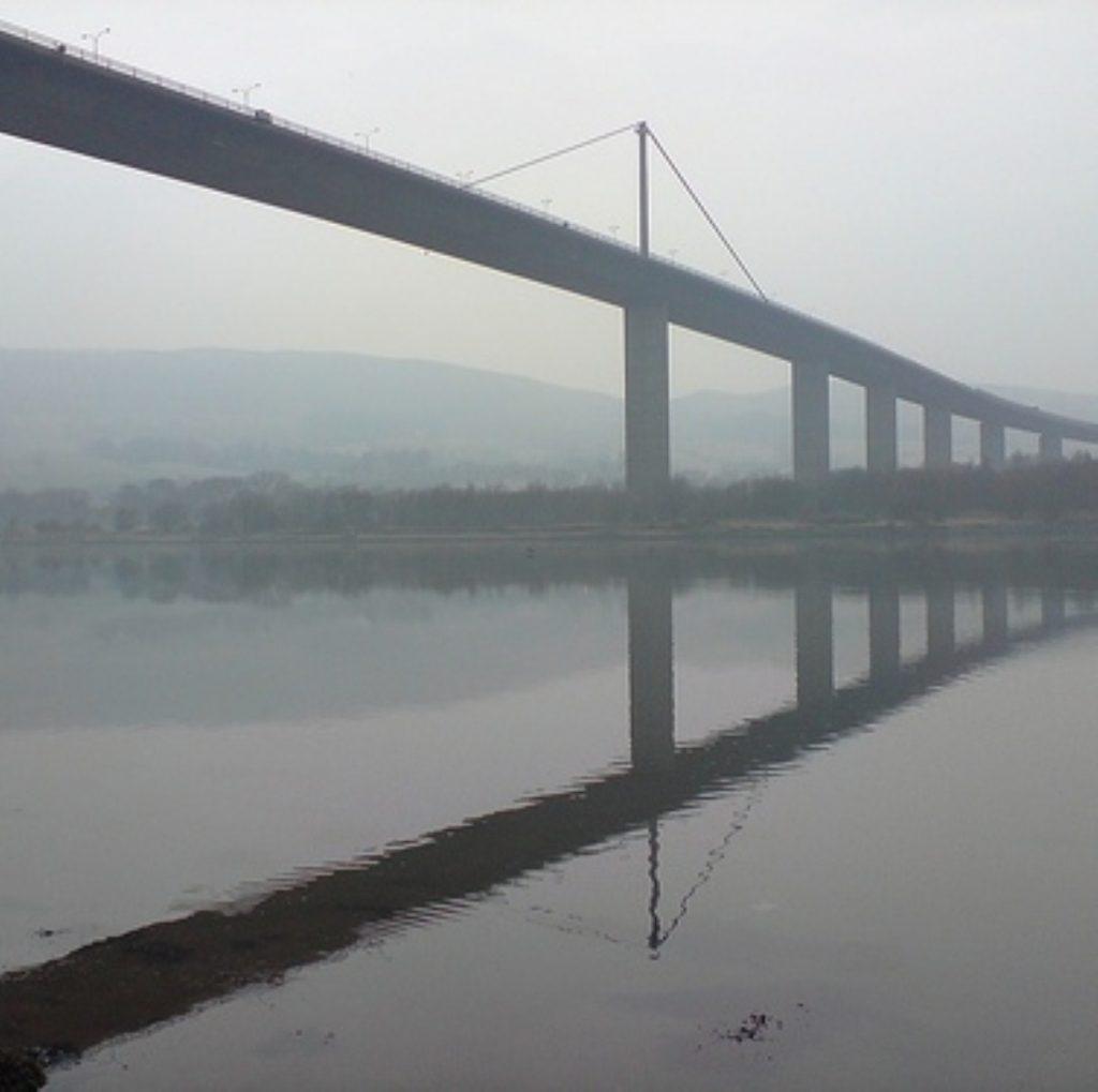 Two teenage girls jumped from the Erskine Bridge in Renfrewshire on Sunday night.
