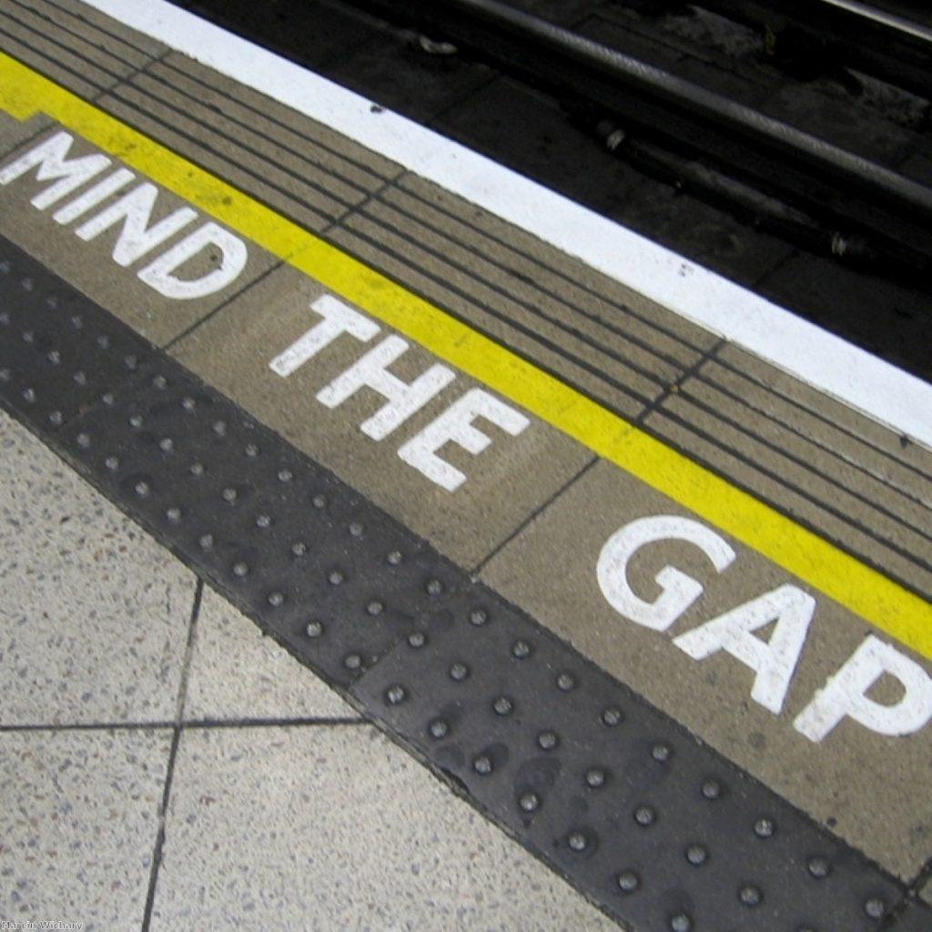 A £410 million gap, in fact