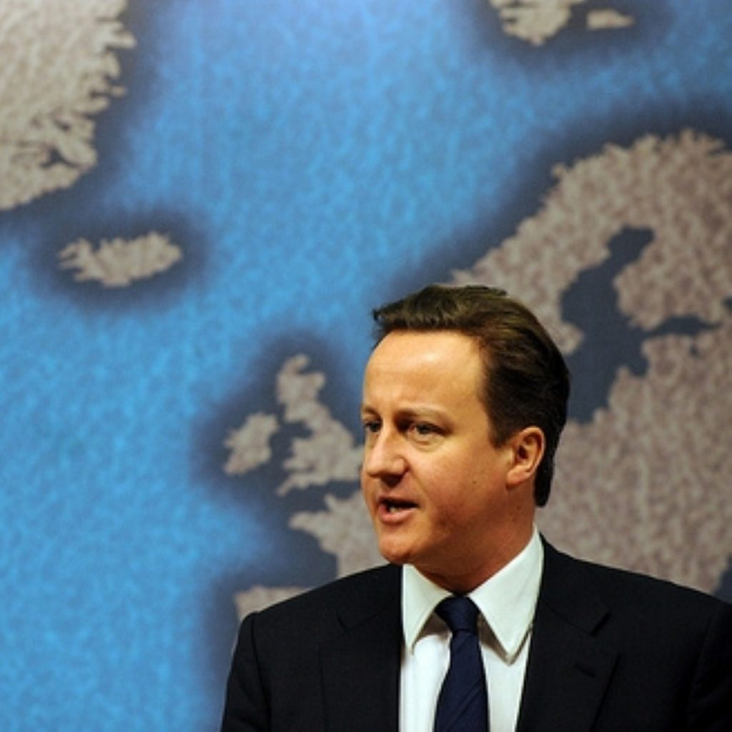 David Cameron has struggled to carve a place on the world stage, IISS says