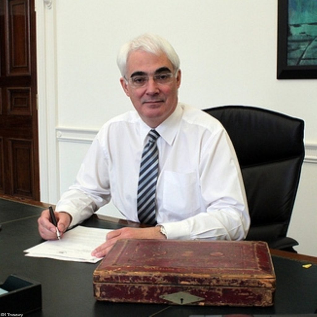 Alistair Darling prepares his final Budget - which did not contain a VAT hike, against his wishes