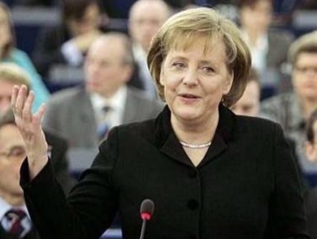 Angela Merkel was treated to a meeting at Chequers
