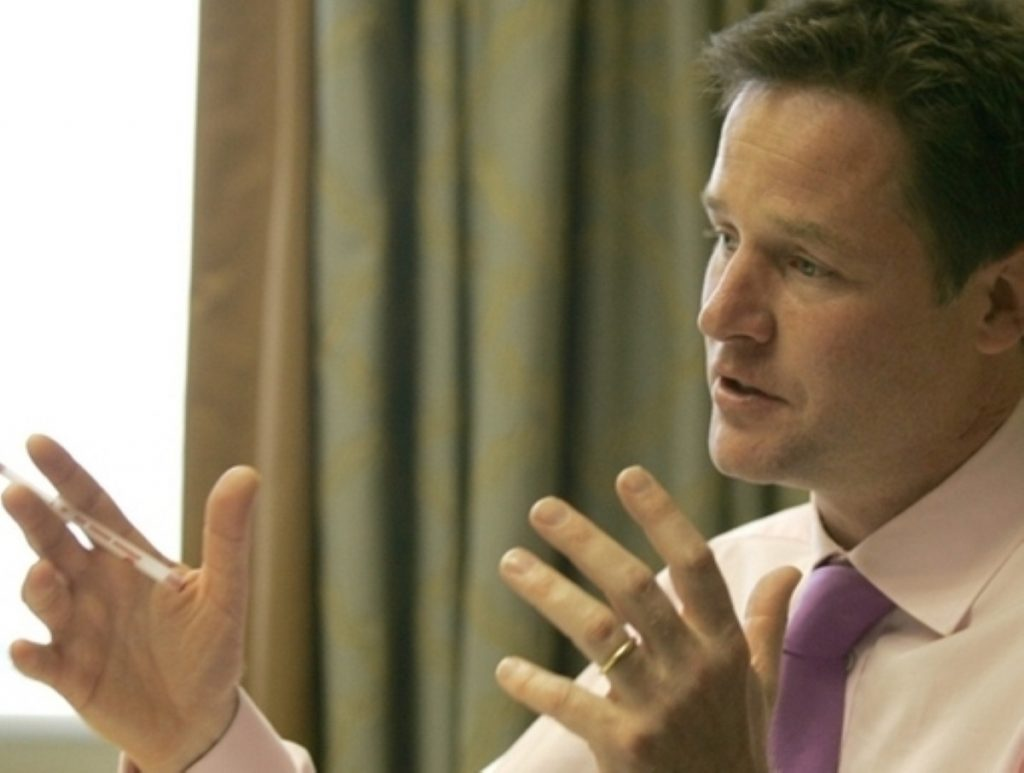 Nick Clegg talks to politics.co.uk