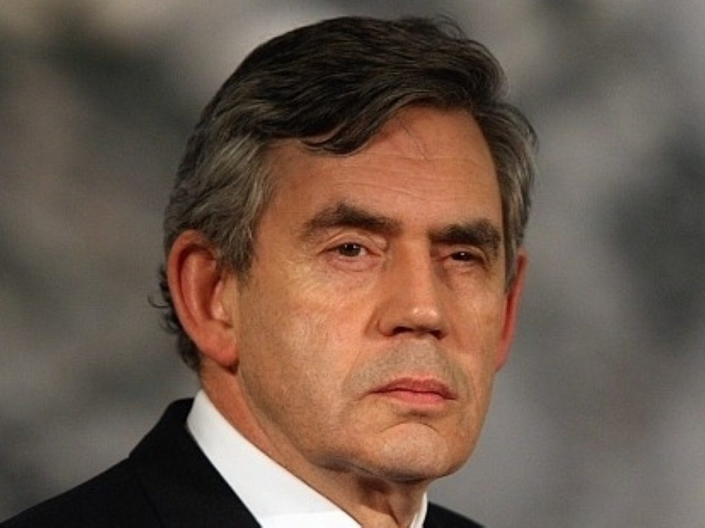 Gordon Brown talks to politics.co.uk